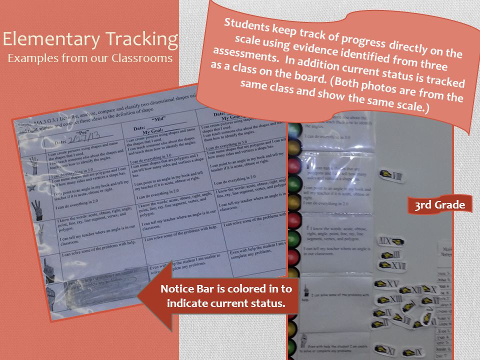 Elementary Tracking Examples from our Classrooms