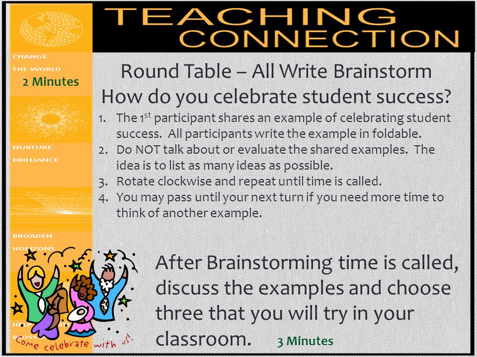Round Table – All Write Brainstorm