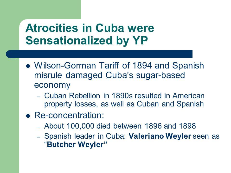 Atrocities in Cuba were Sensationalized by YP