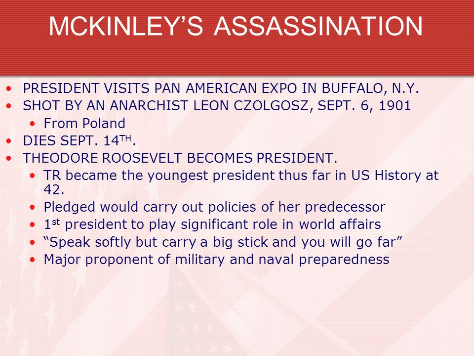 MCKINLEY'S ASSASSINATION