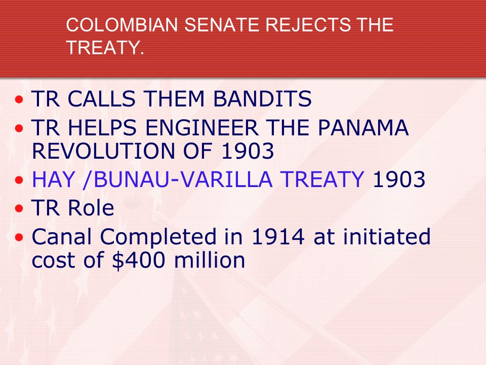 COLOMBIAN SENATE REJECTS THE TREATY.