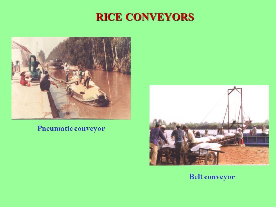 RICE CONVEYORS Pneumatic conveyor Belt conveyor
