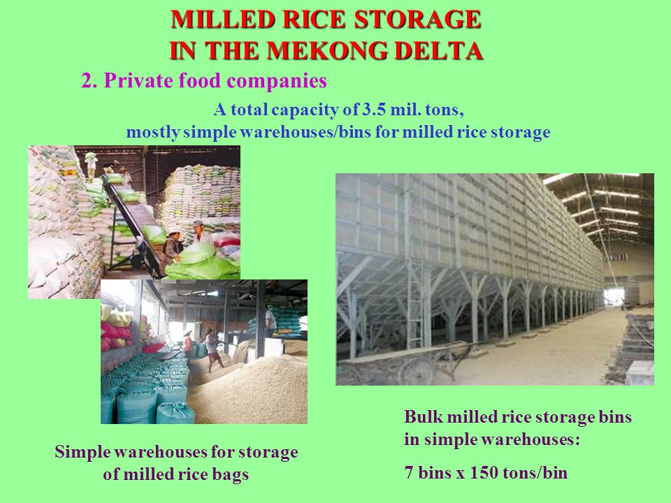 MILLED RICE STORAGE IN THE MEKONG DELTA