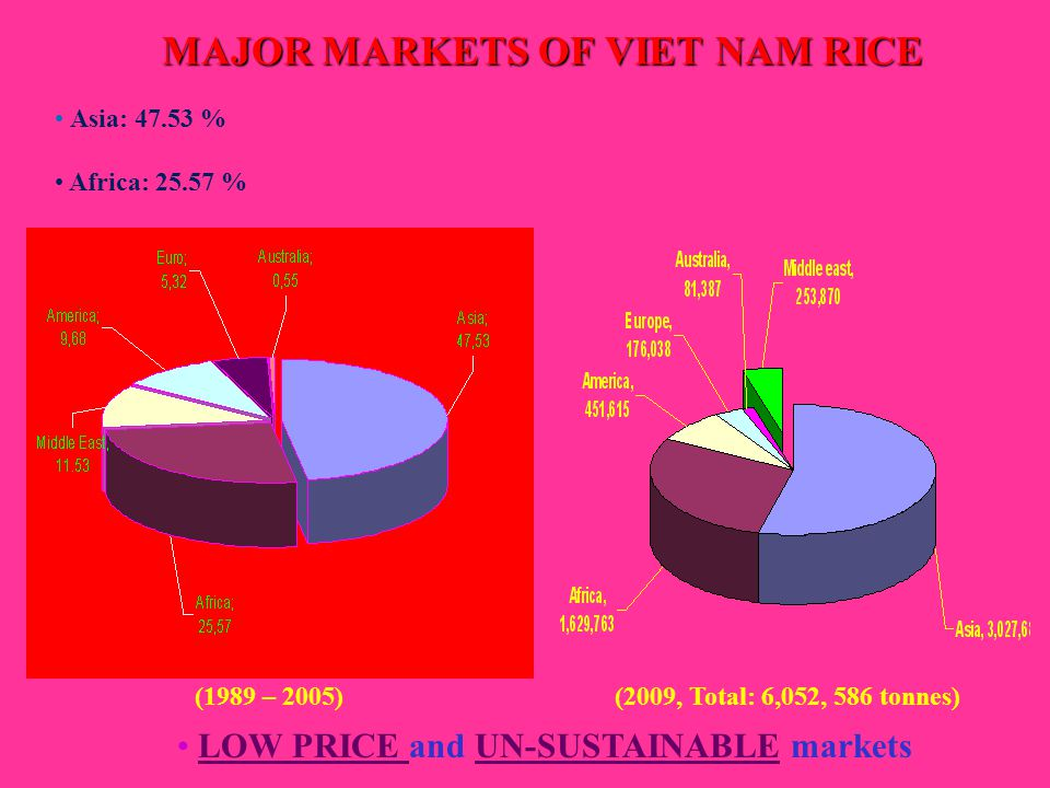 MAJOR MARKETS OF VIET NAM RICE