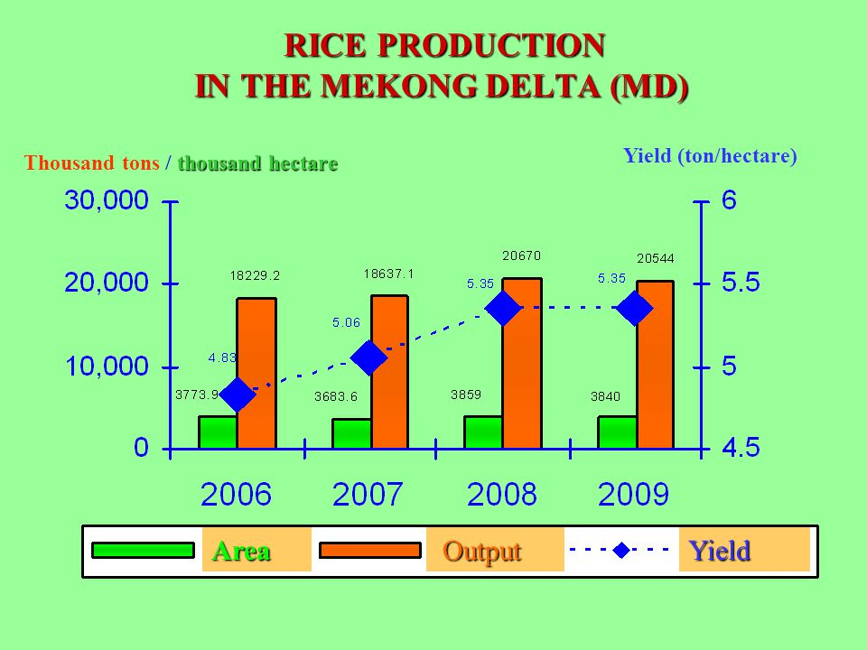 RICE PRODUCTION IN THE MEKONG DELTA (MD)