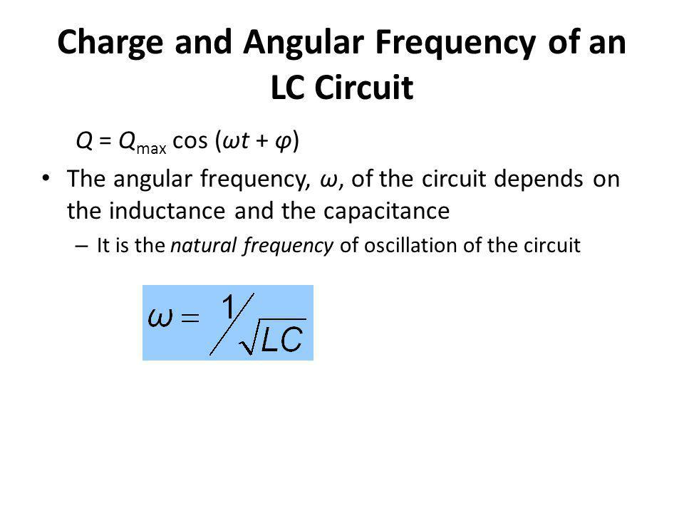 Charge and Angular Frequency of an LC Circuit