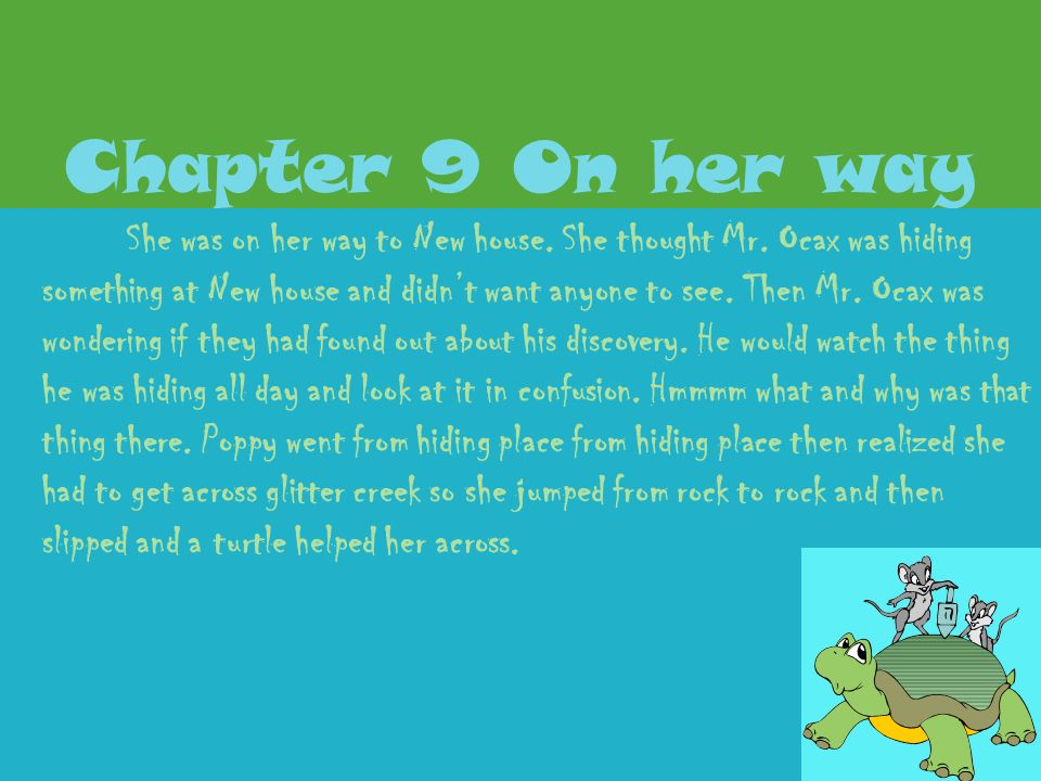 Chapter 9 On her way