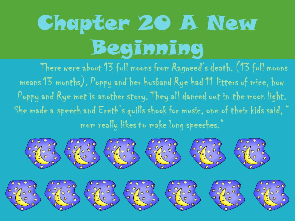 Chapter 20 A New Beginning