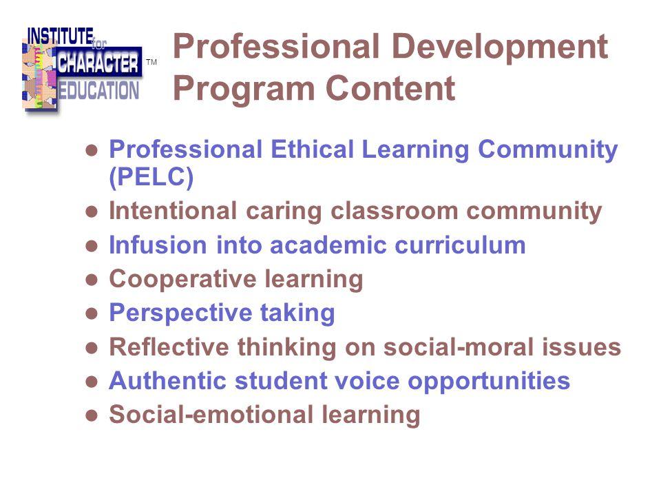 Professional Development Program Content