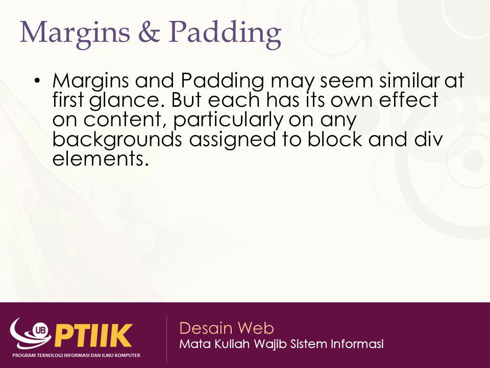 Margins & Padding