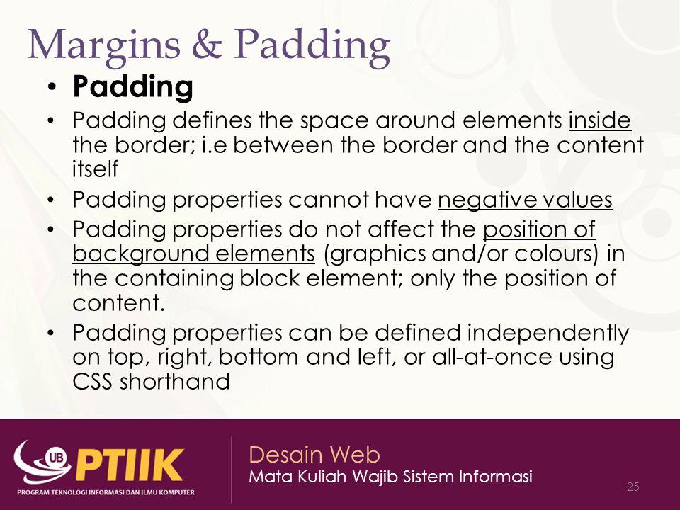 Margins & Padding Padding