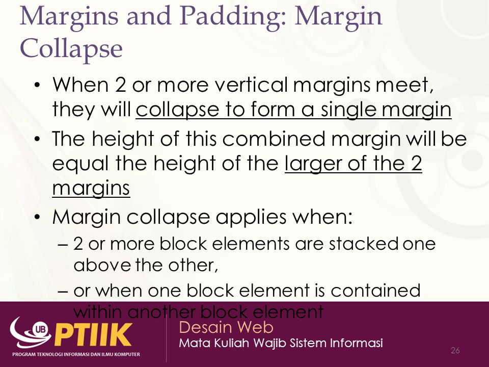 Margins and Padding: Margin Collapse