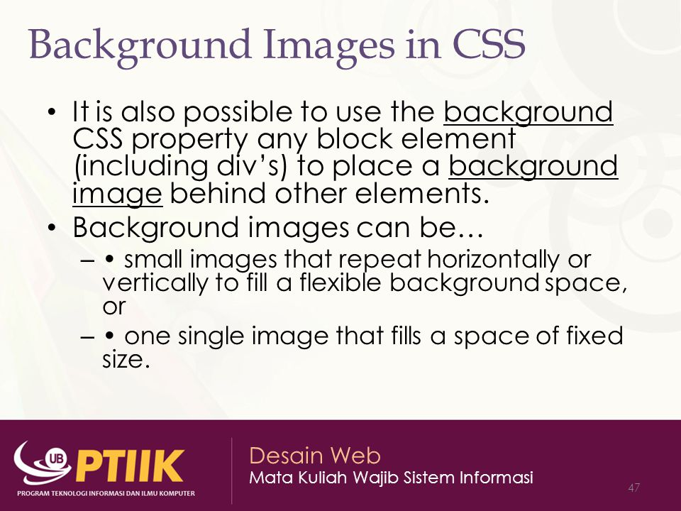 Background Images in CSS