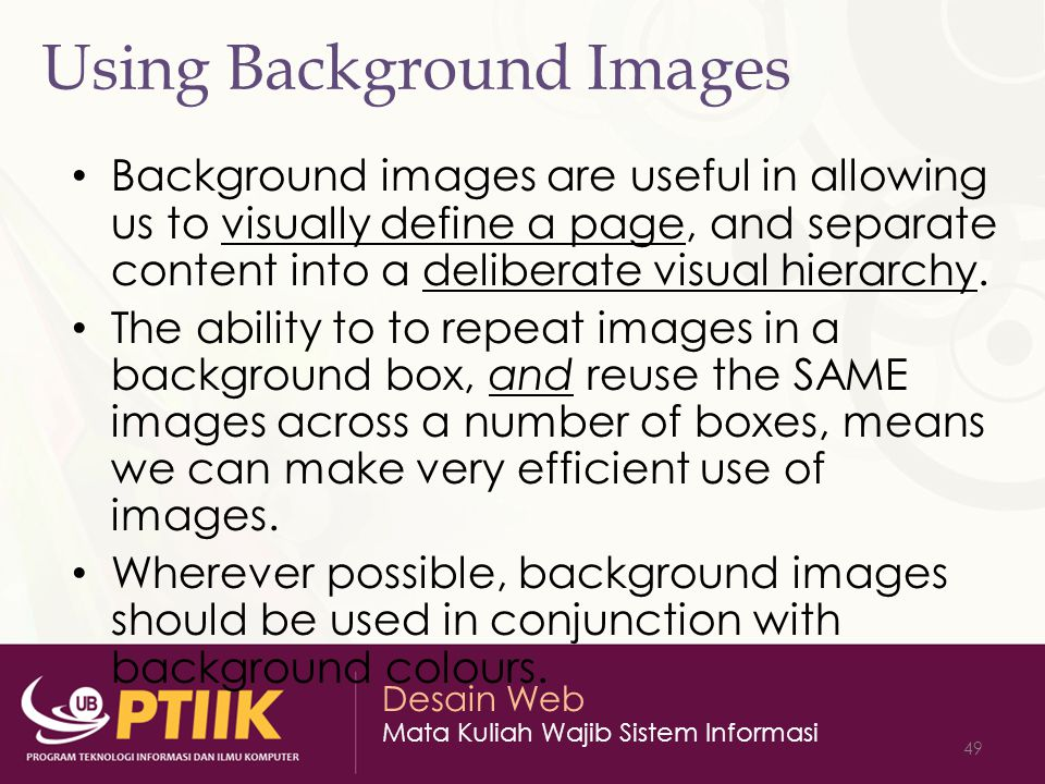 Using Background Images
