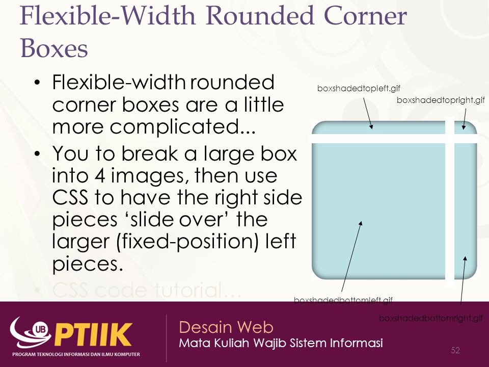 Flexible-Width Rounded Corner Boxes