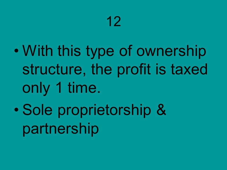 Sole proprietorship & partnership