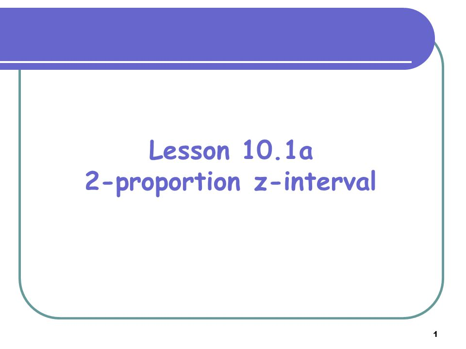 2-proportion z-interval