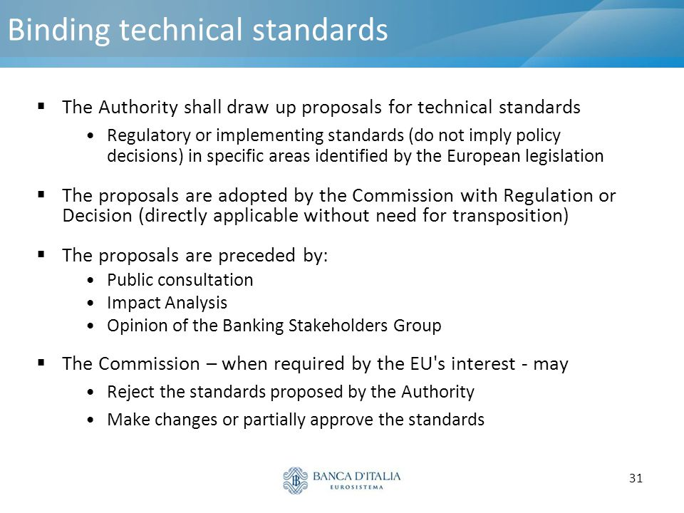 Binding technical standards