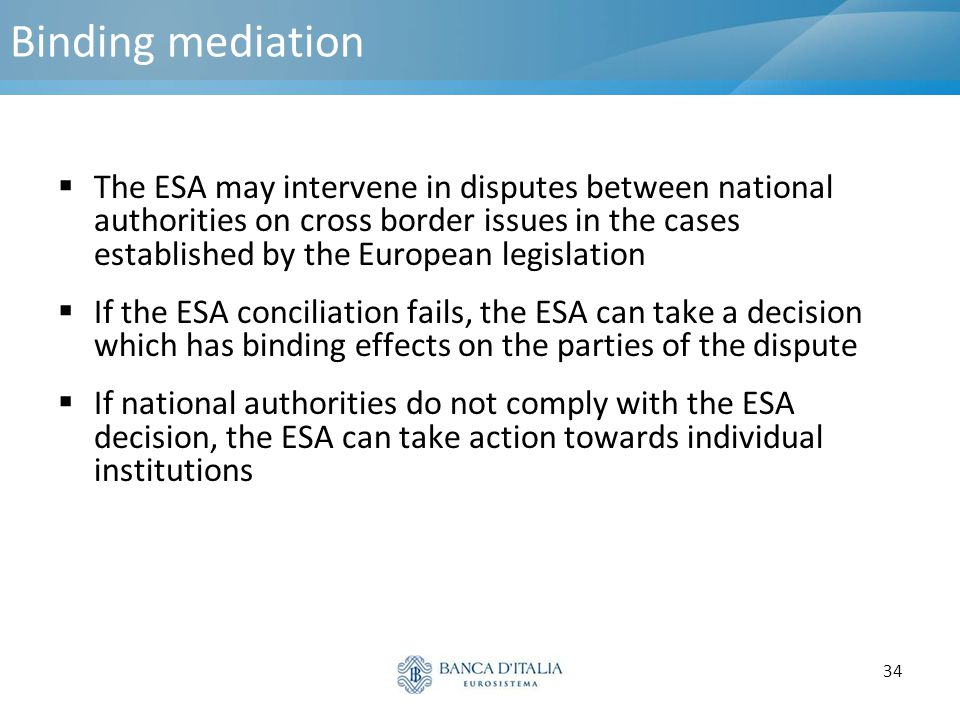 Binding mediation