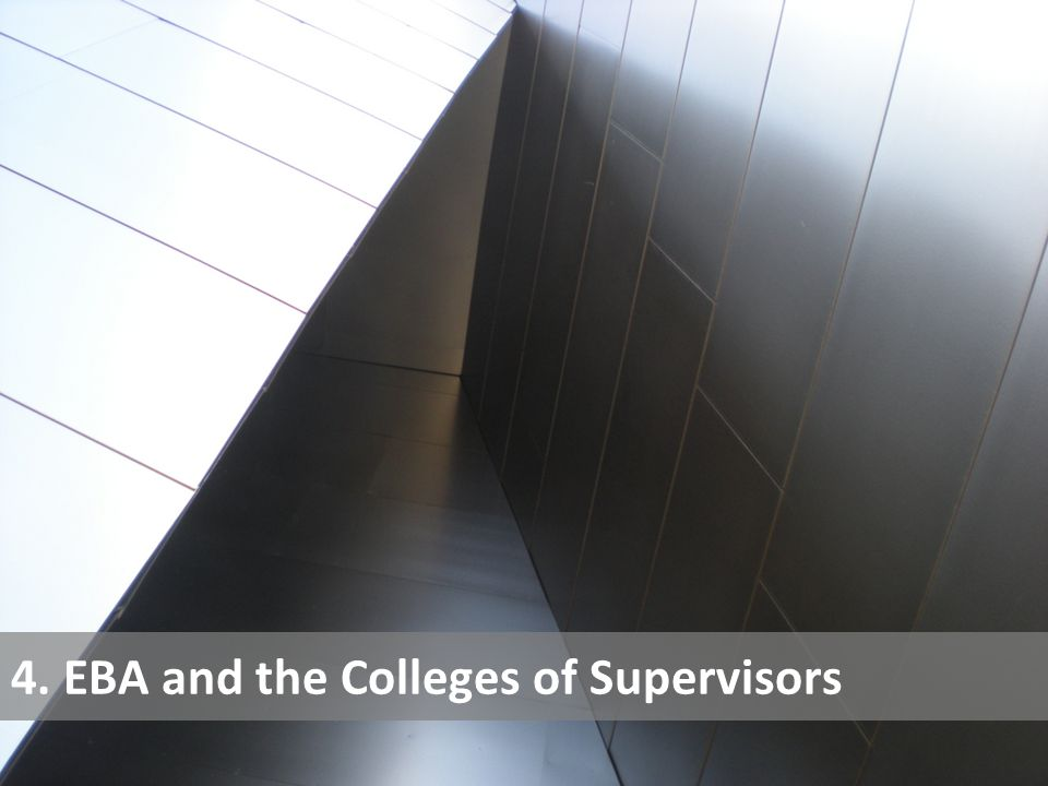 4. EBA and the Colleges of Supervisors