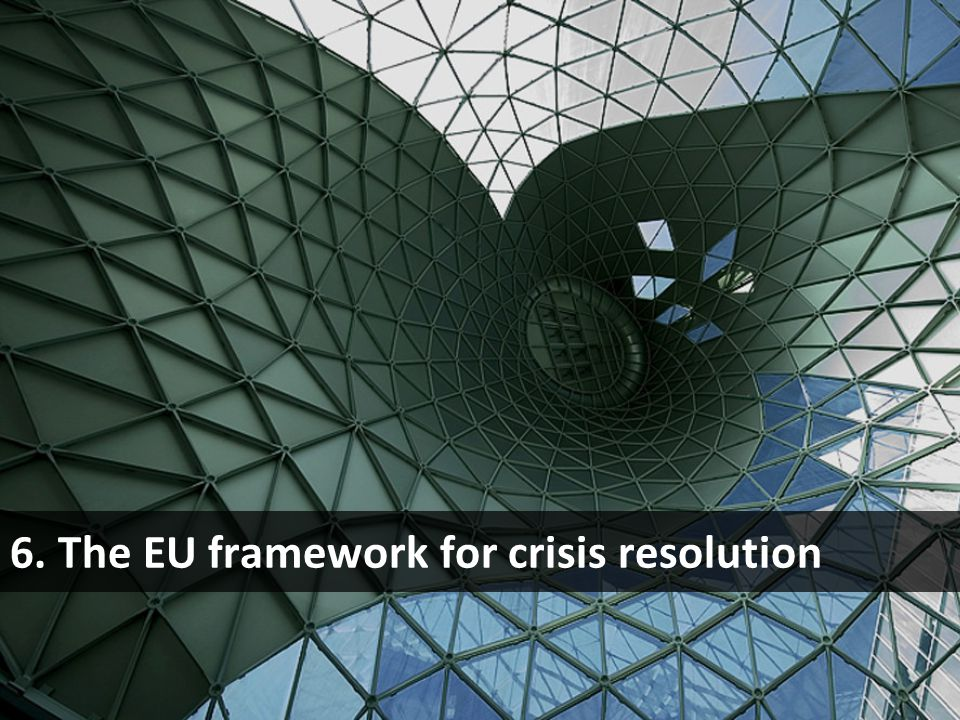 6. The EU framework for crisis resolution
