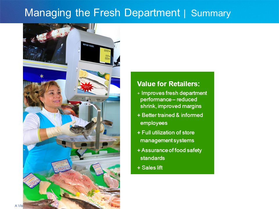 Managing the Fresh Department   Summary