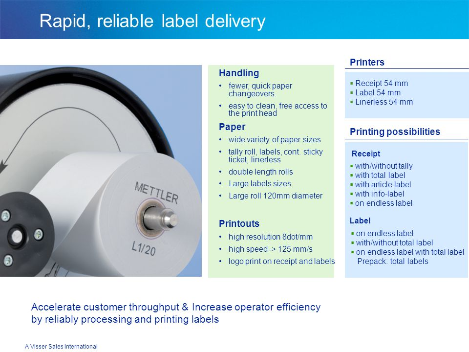 Rapid, reliable label delivery