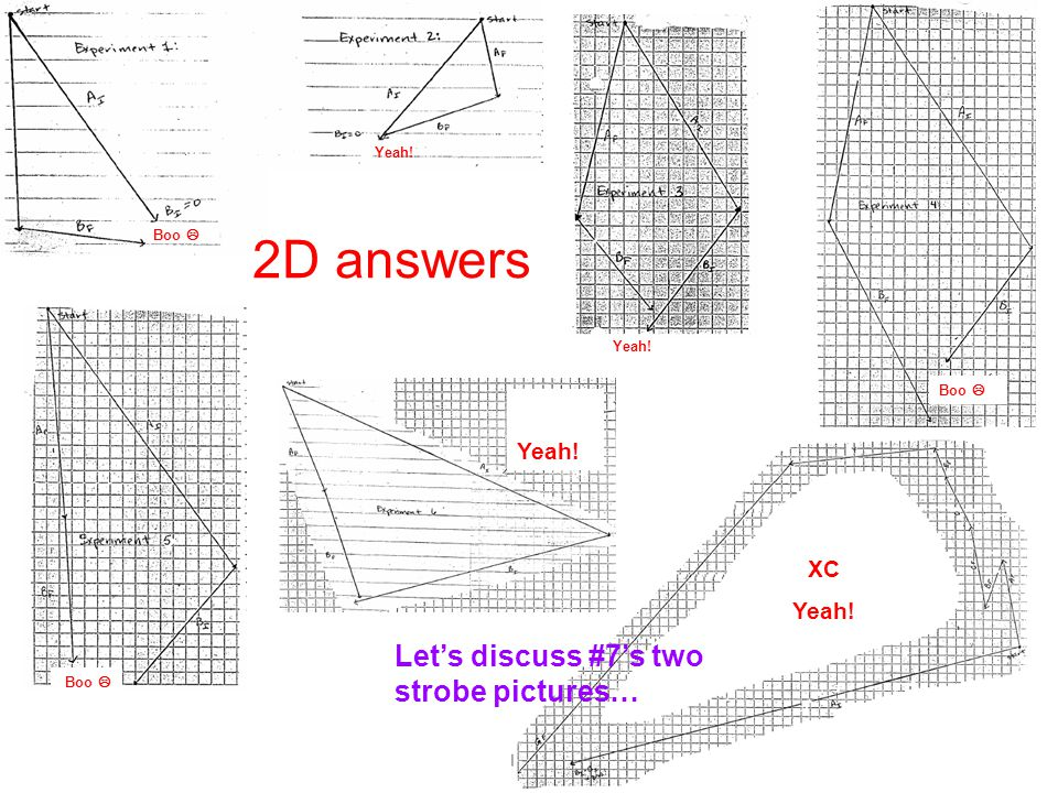 2D answers Let's discuss #7's two strobe pictures… Yeah! XC Yeah!
