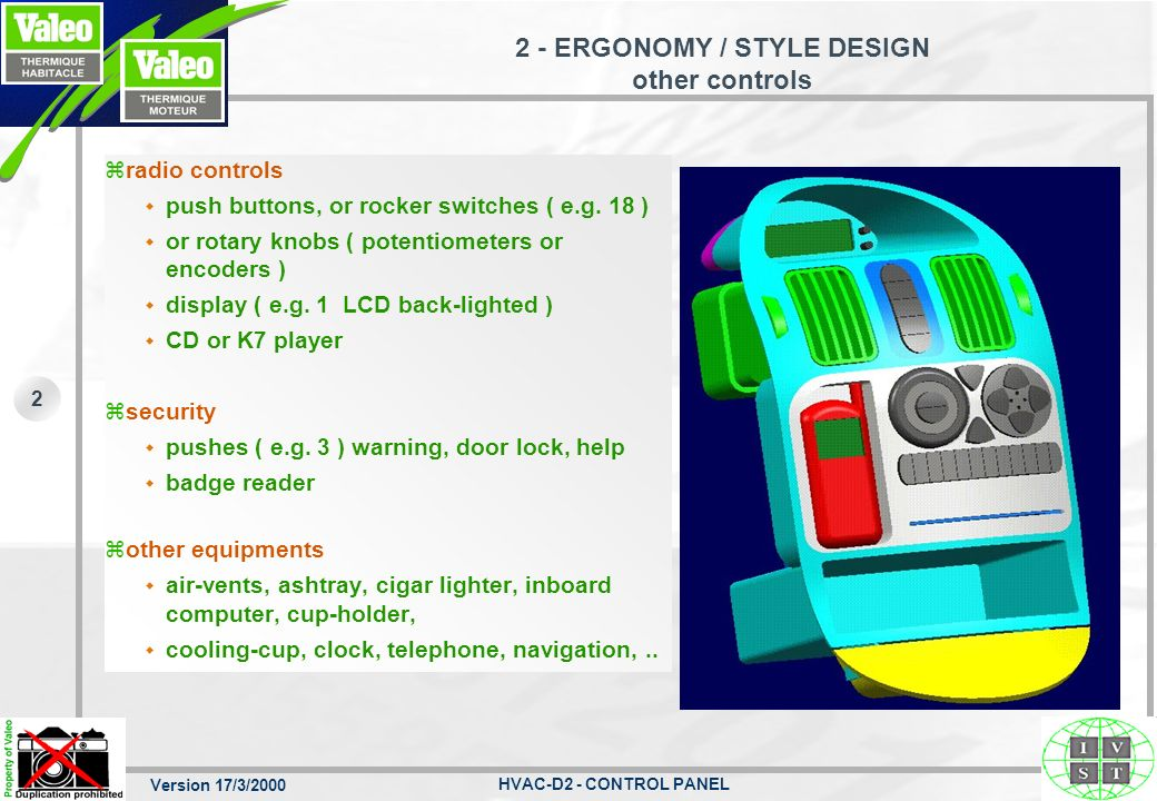 2 - ERGONOMY / STYLE DESIGN other controls