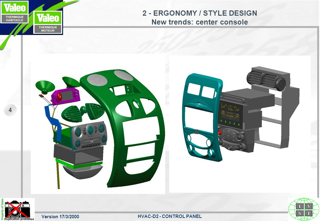 2 - ERGONOMY / STYLE DESIGN New trends: center console