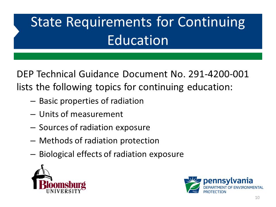 State Requirements for Continuing Education