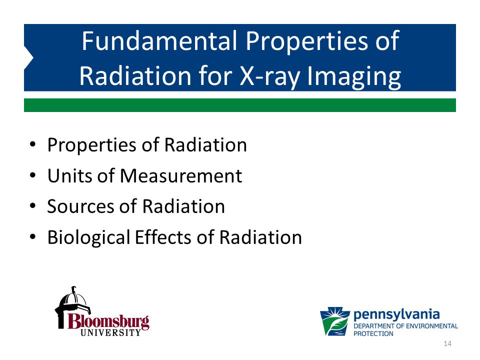Fundamental Properties of Radiation for X-ray Imaging
