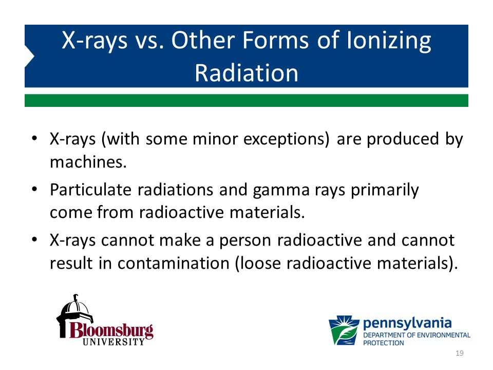 X-rays vs. Other Forms of Ionizing Radiation