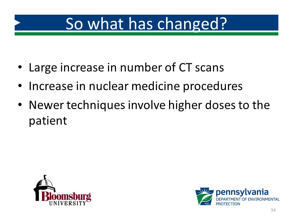 So what has changed Large increase in number of CT scans