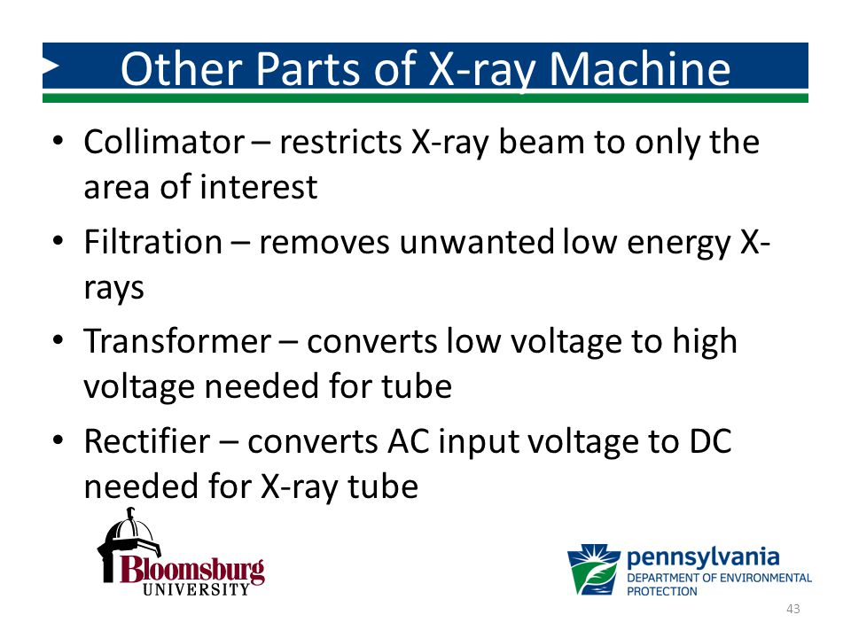 Other Parts of X-ray Machine