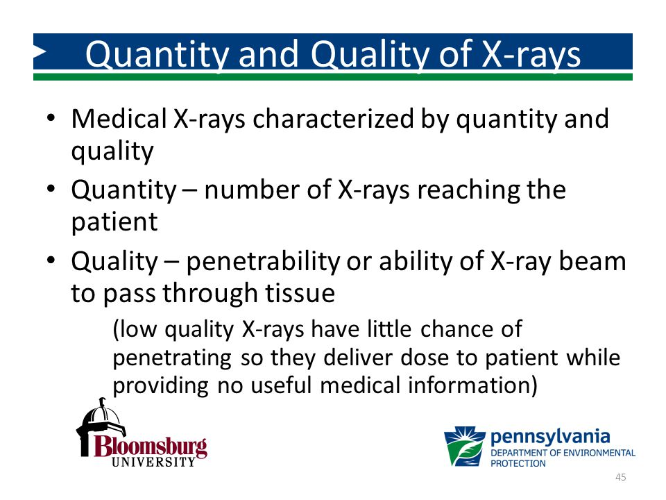 Quantity and Quality of X-rays