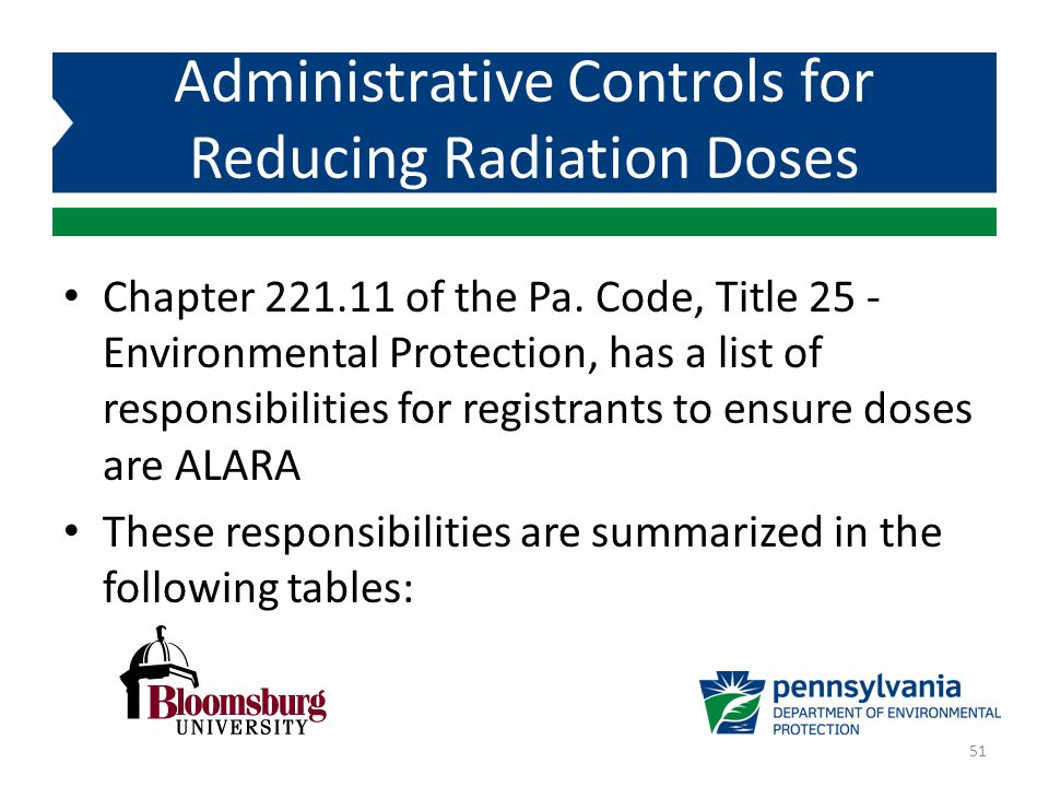 Administrative Controls for Reducing Radiation Doses