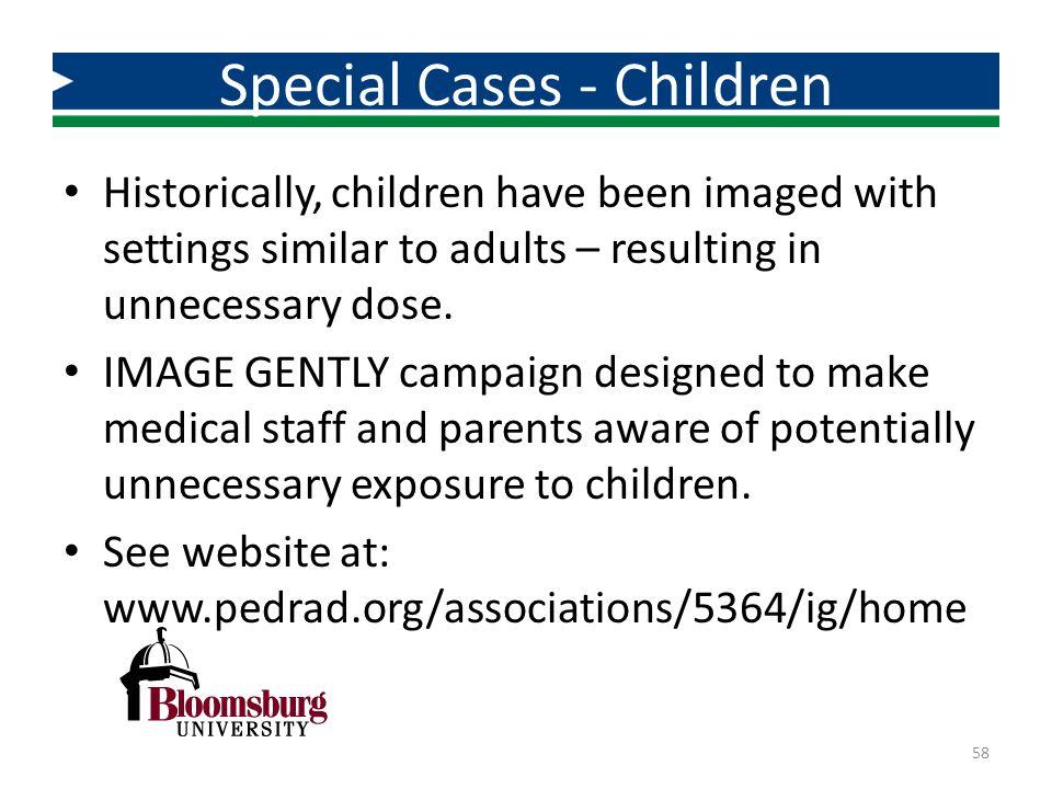 Special Cases - Children