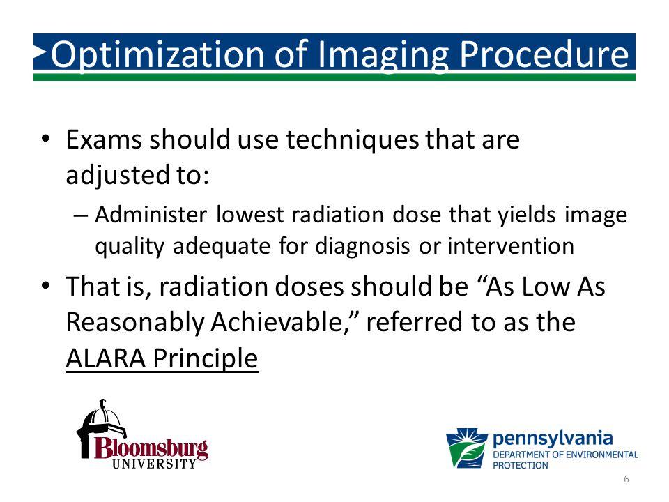 Optimization of Imaging Procedure
