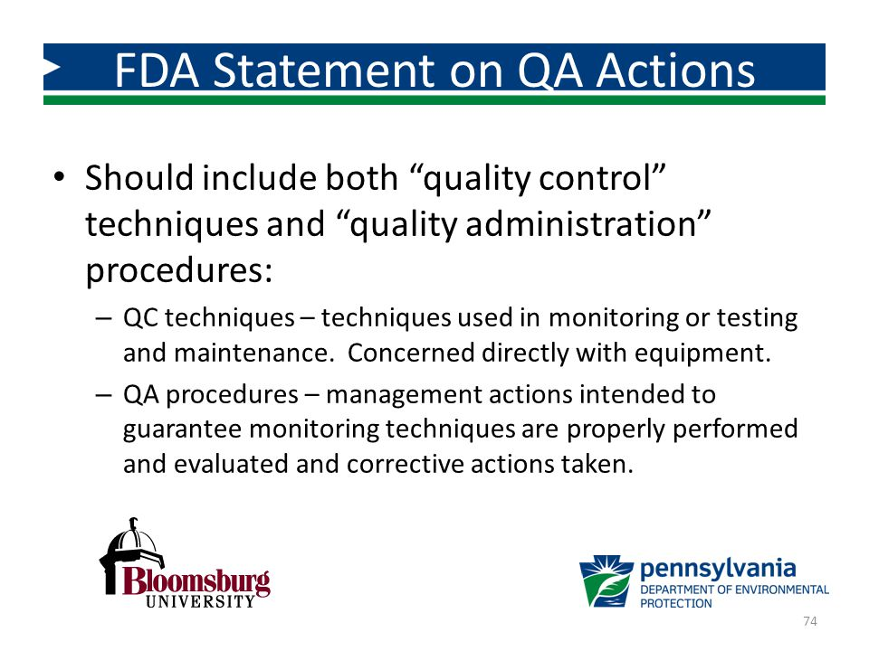 FDA Statement on QA Actions