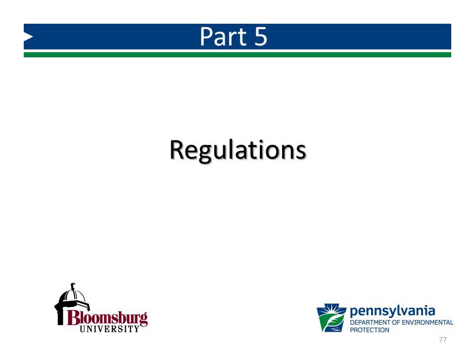 Part 5 Regulations