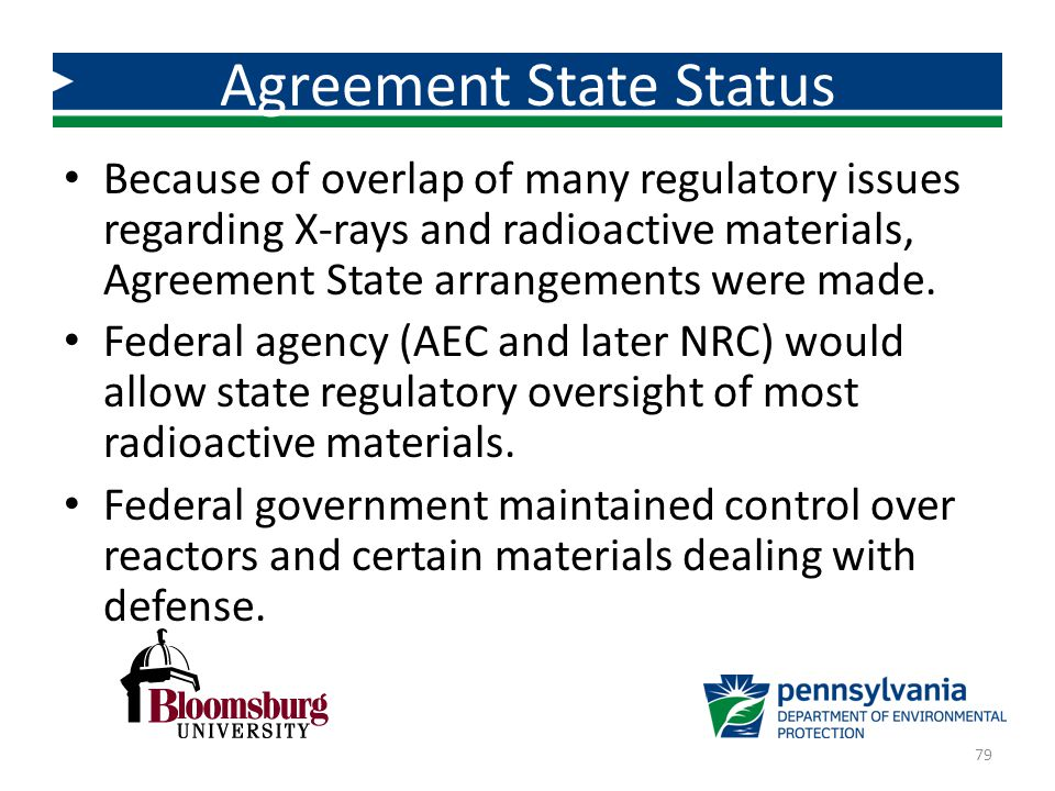 Agreement State Status