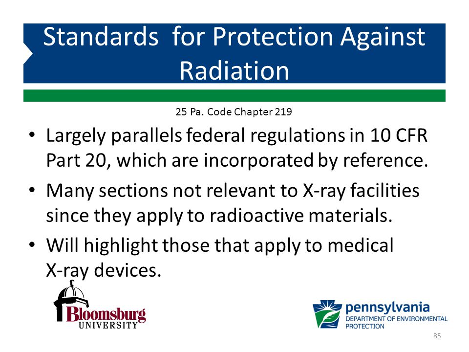 Standards for Protection Against Radiation