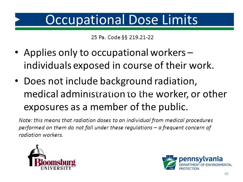 Occupational Dose Limits