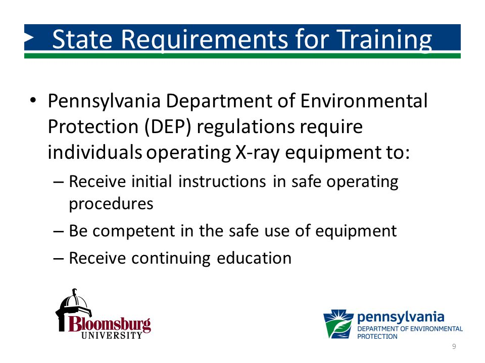 State Requirements for Training