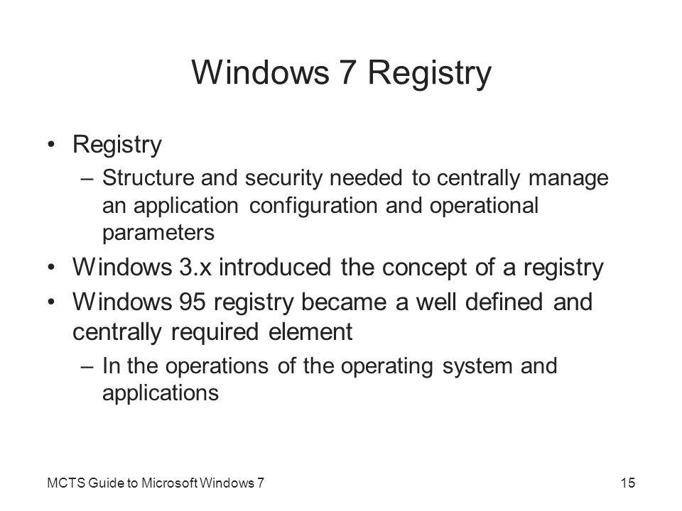 Windows 7 Registry Registry
