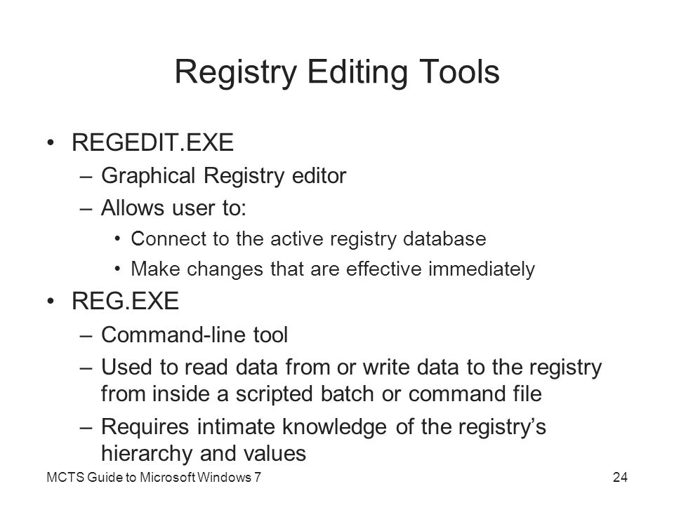 Registry Editing Tools