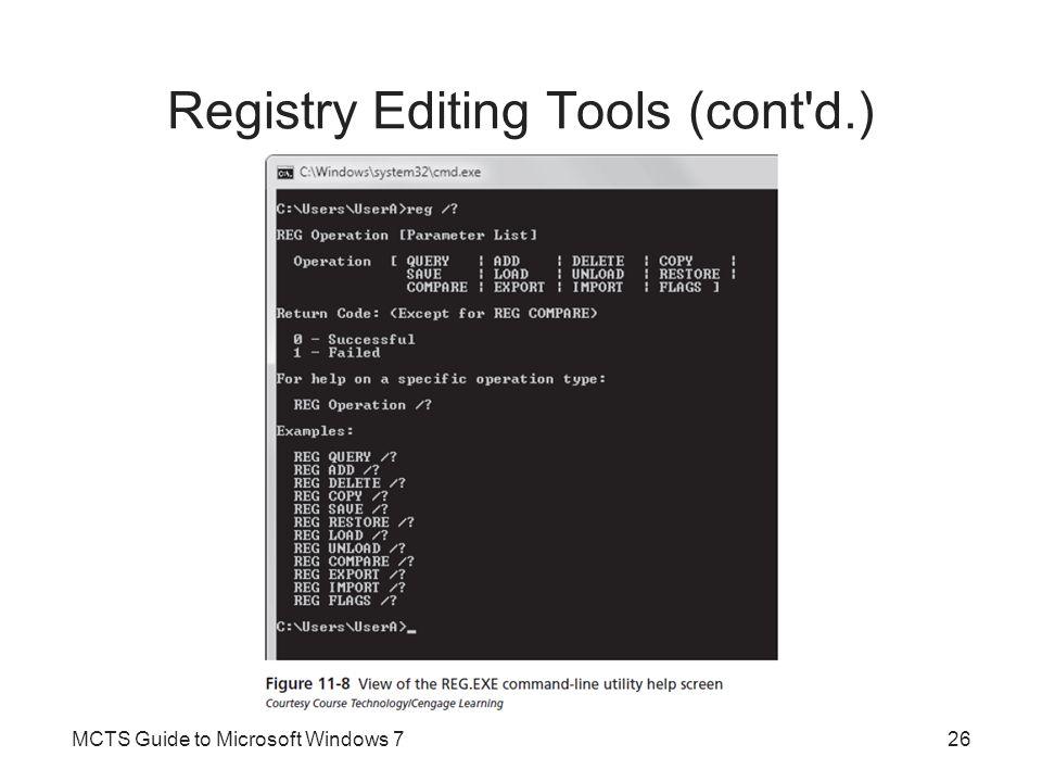 Registry Editing Tools (cont d.)