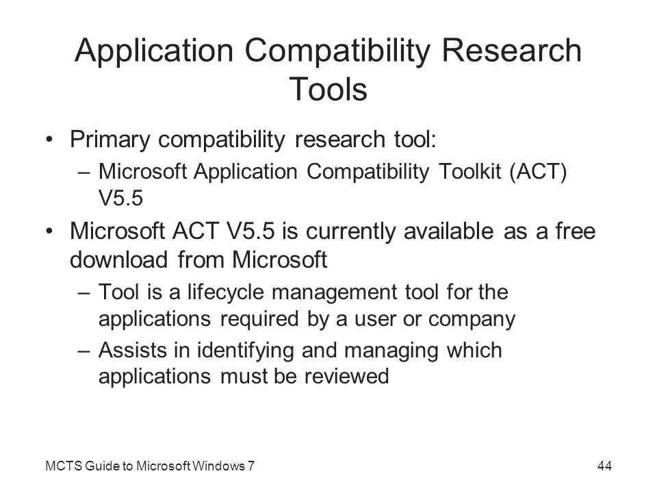 Application Compatibility Research Tools