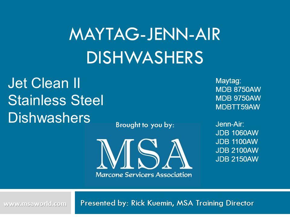 Maytag-Jenn-Air Dishwashers